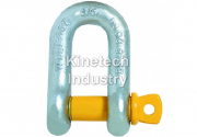 Yellow Pin Shackles – dee shackles with screw collar pin code G-3151