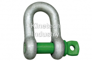 Green Pin Standard Shackles – dee shackles wih screw collar pin code G-4151