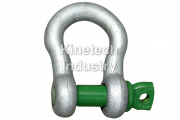 Green Pin Standard Shackles – bow shackles with screw collar pin code G-4161