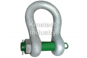 Green Pin Heavy Duty Shackles – bow shackles with safety bolt code P-6036